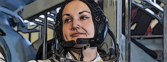 "ARCHIV - Yelena Serova, member of the ISS 39/40 backup crew, ahead of a test on the model of the Soyuz TMA-M carrier at the Gagarin Cosmonaut Training Center in Zvyozdny Gorodok (Star Town), 04.03.2014. Photo: Roman Sokolov/RIA Novosti (zu dpa ""«Große Verantwortung»: Jelena Serowa erste Russin auf Raumstation ISS"" vom 22.05.2014) +++(c) dpa - Bildfunk+++"